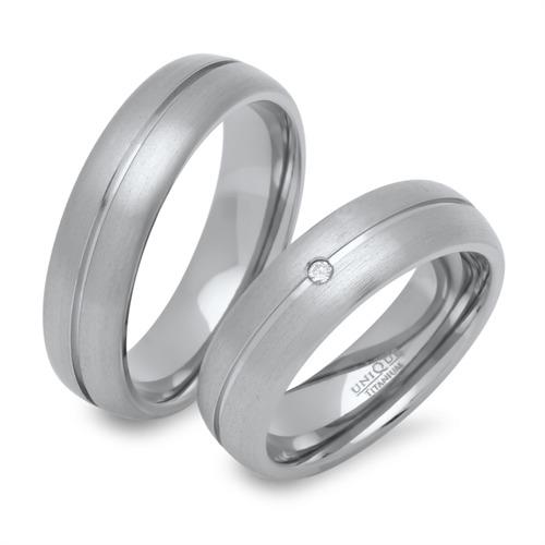 Partnerringe gravur  Partnerringe Titan mit Diamant und Gravur günstig online bestellen!