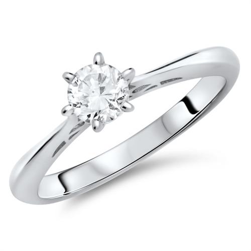 solitaire ring zur verlobung mit zirkonia g nstig online. Black Bedroom Furniture Sets. Home Design Ideas