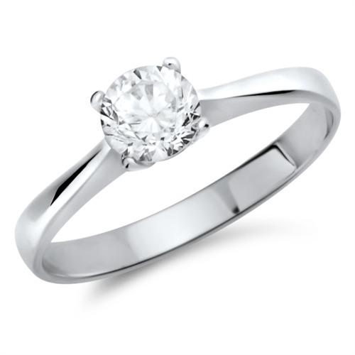 Partnerringe silber mit stein  Zirkonia Verlobungsring 925 Silber günstig online bestellen!