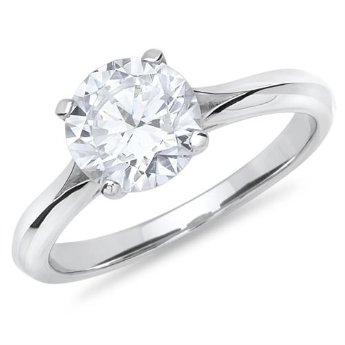 Partnerringe silber mit stein  Verlobungsring Silber großer Zirkonia 2,3mm günstig online bestellen!