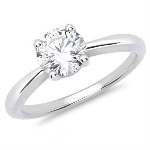 Silber Verlobungsring Mit Steinbesatz Gunstig Online Bestellen